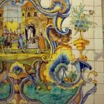 Detalle de azulejos en Pouet de Sant Vicent