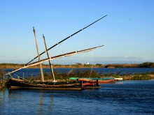 Barca en la Albufera