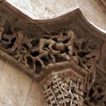 Detalles de piedra tallada en la Lonja de Seda