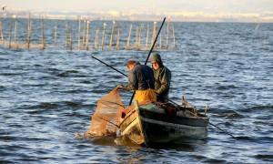 Pescadores en la Albufera